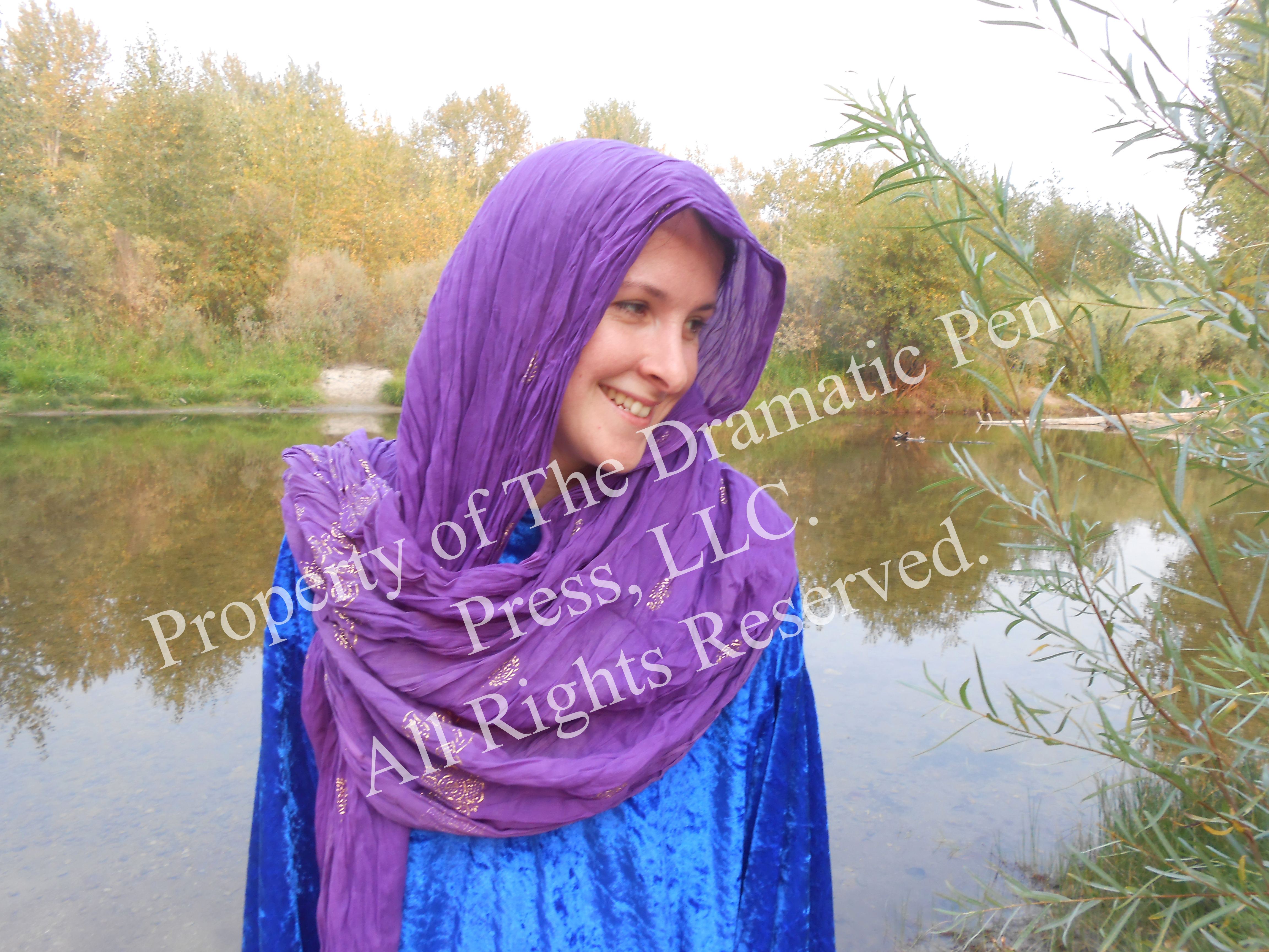 Happy Biblical Woman by Water