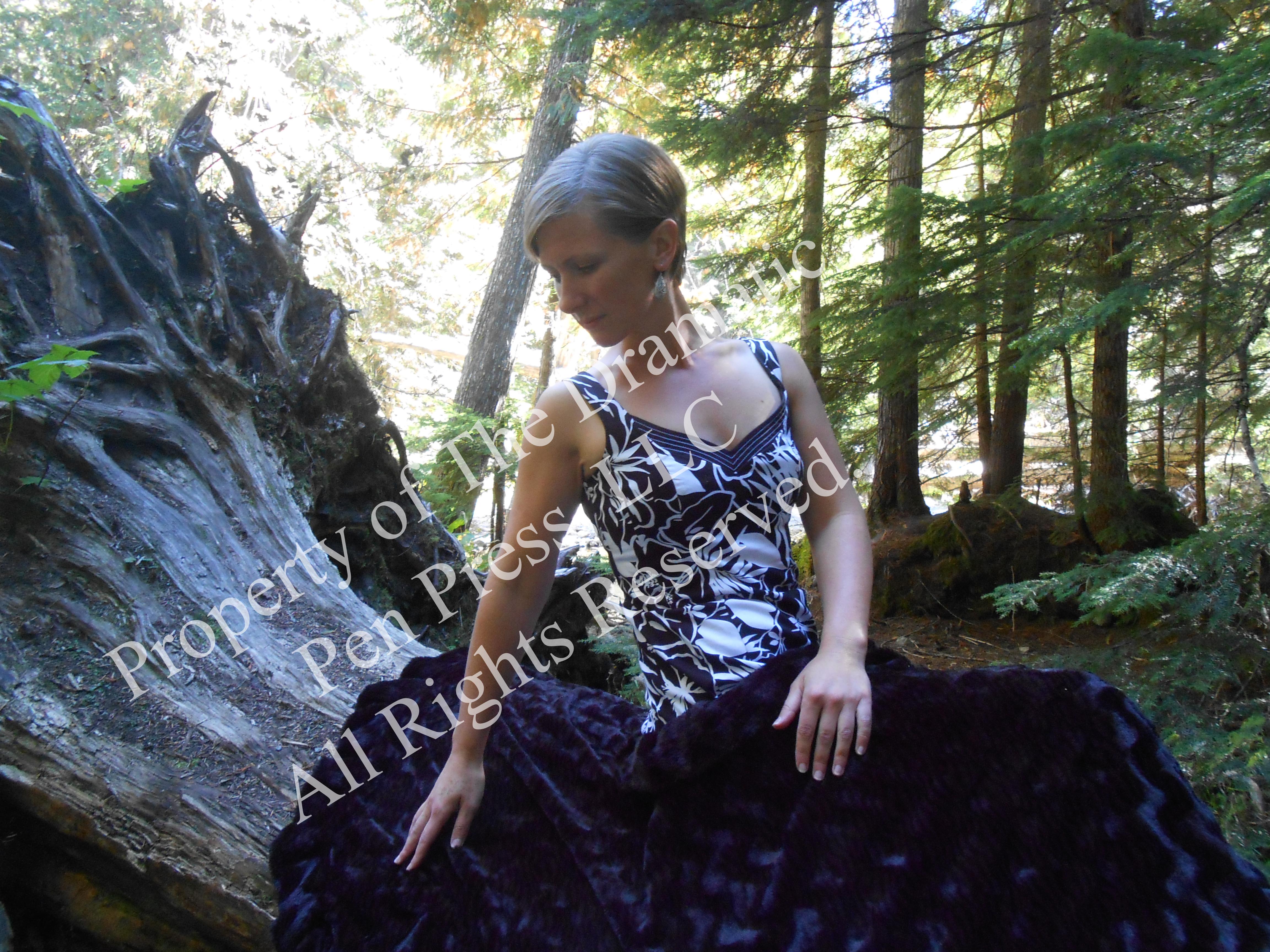 Woman Arm Back Woods Fur Blanket