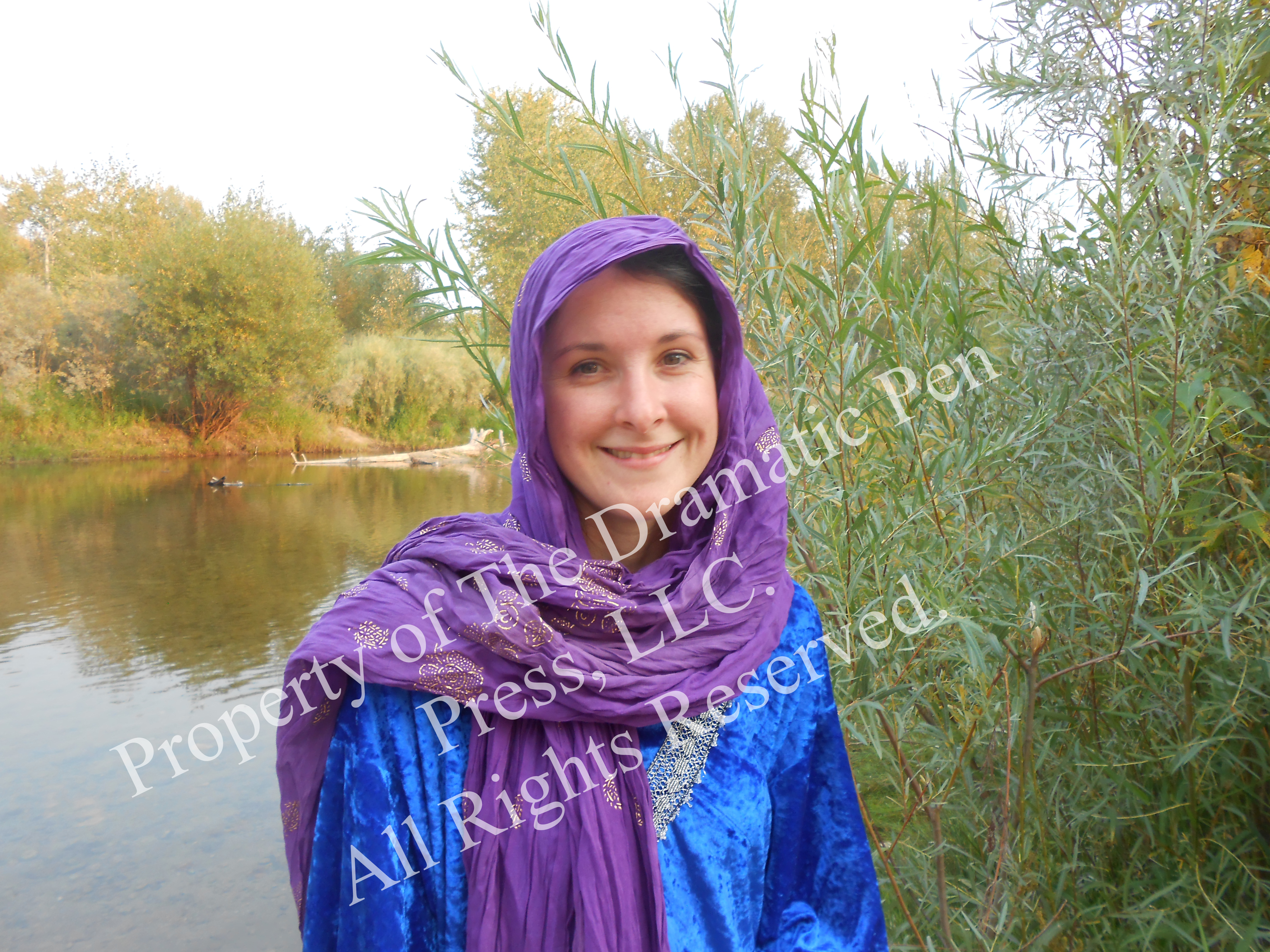 Smiling Biblical Woman by Water
