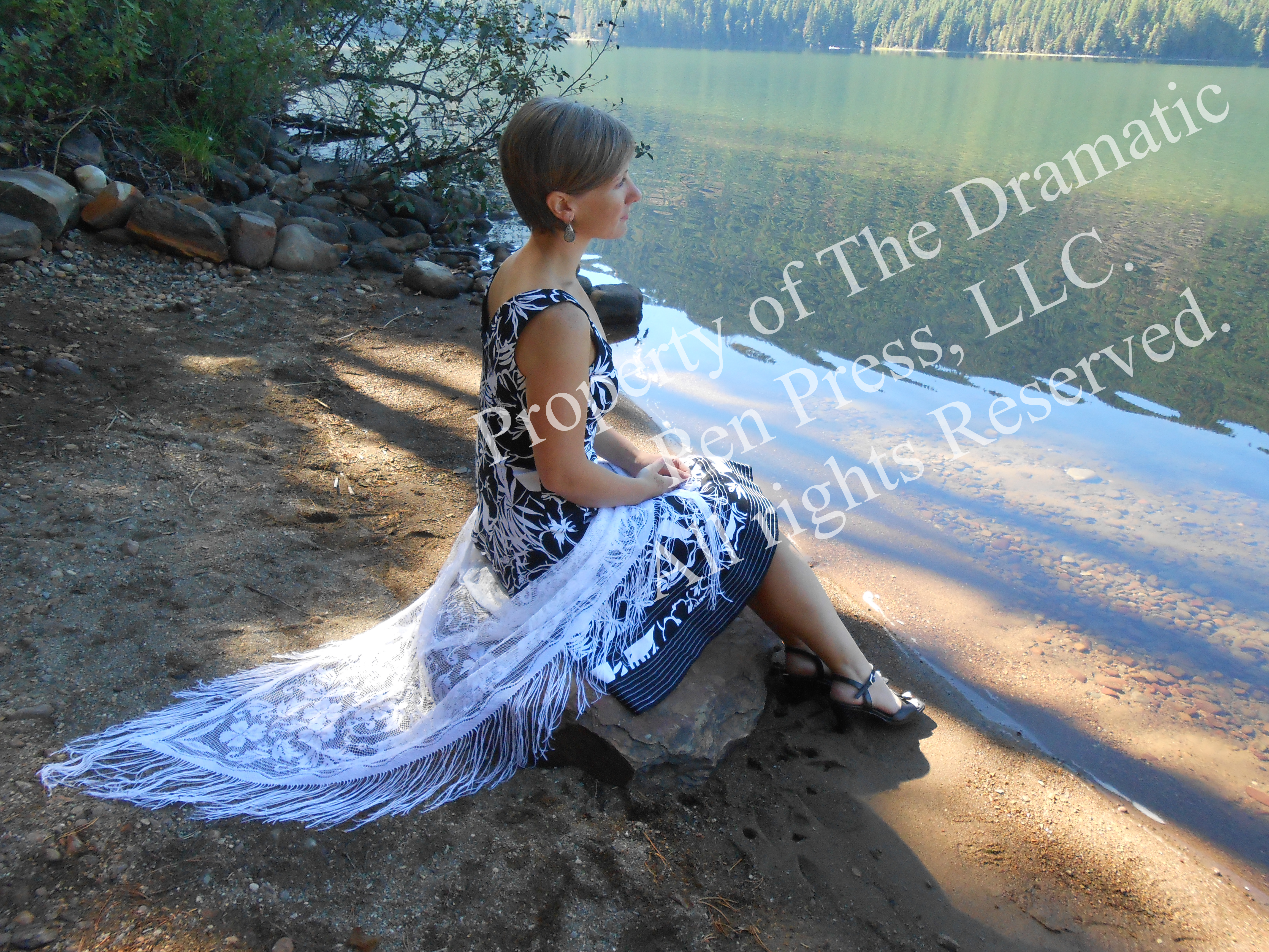 Woman by Shore Lace