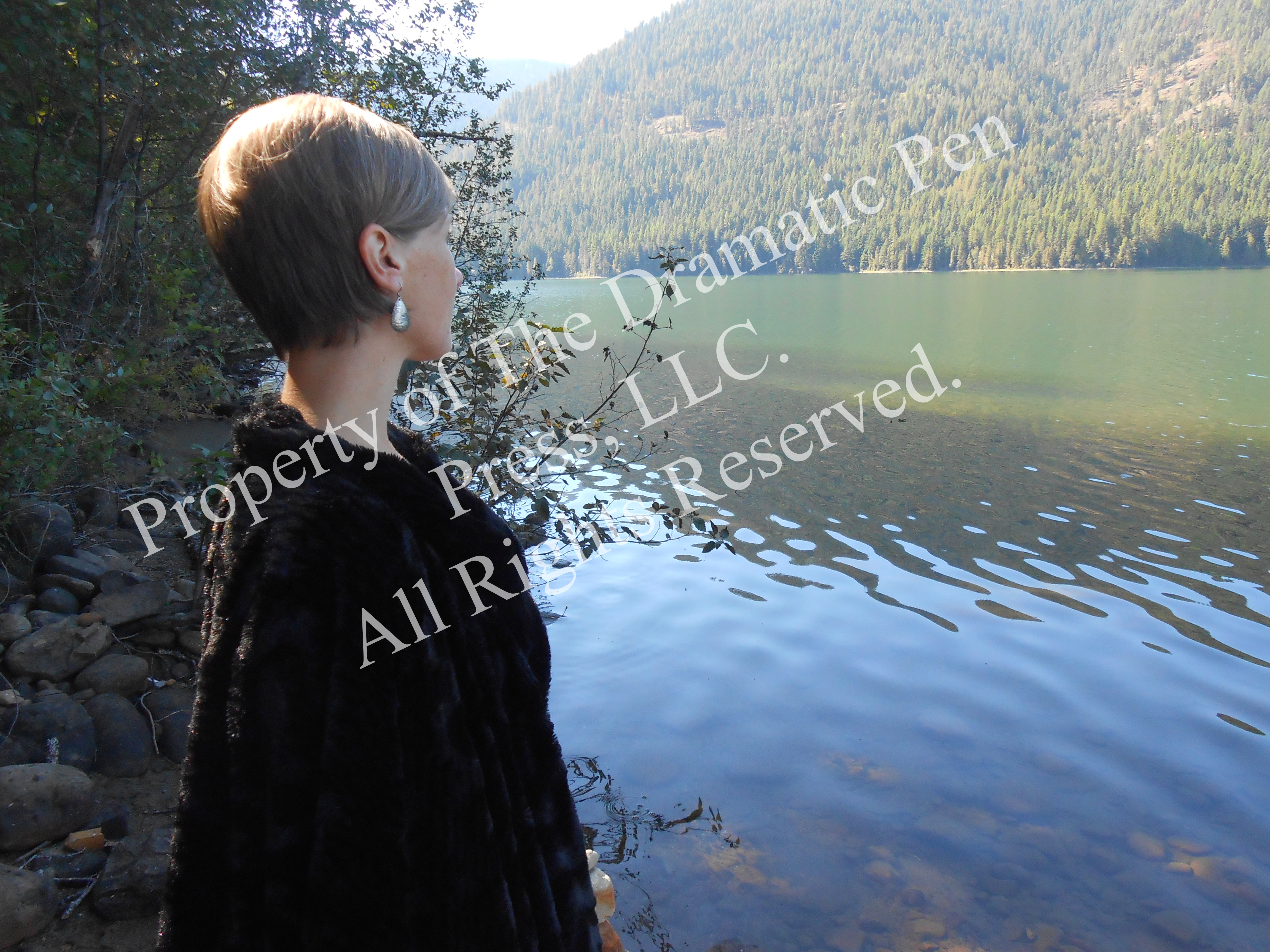 Profile of Woman by Lake