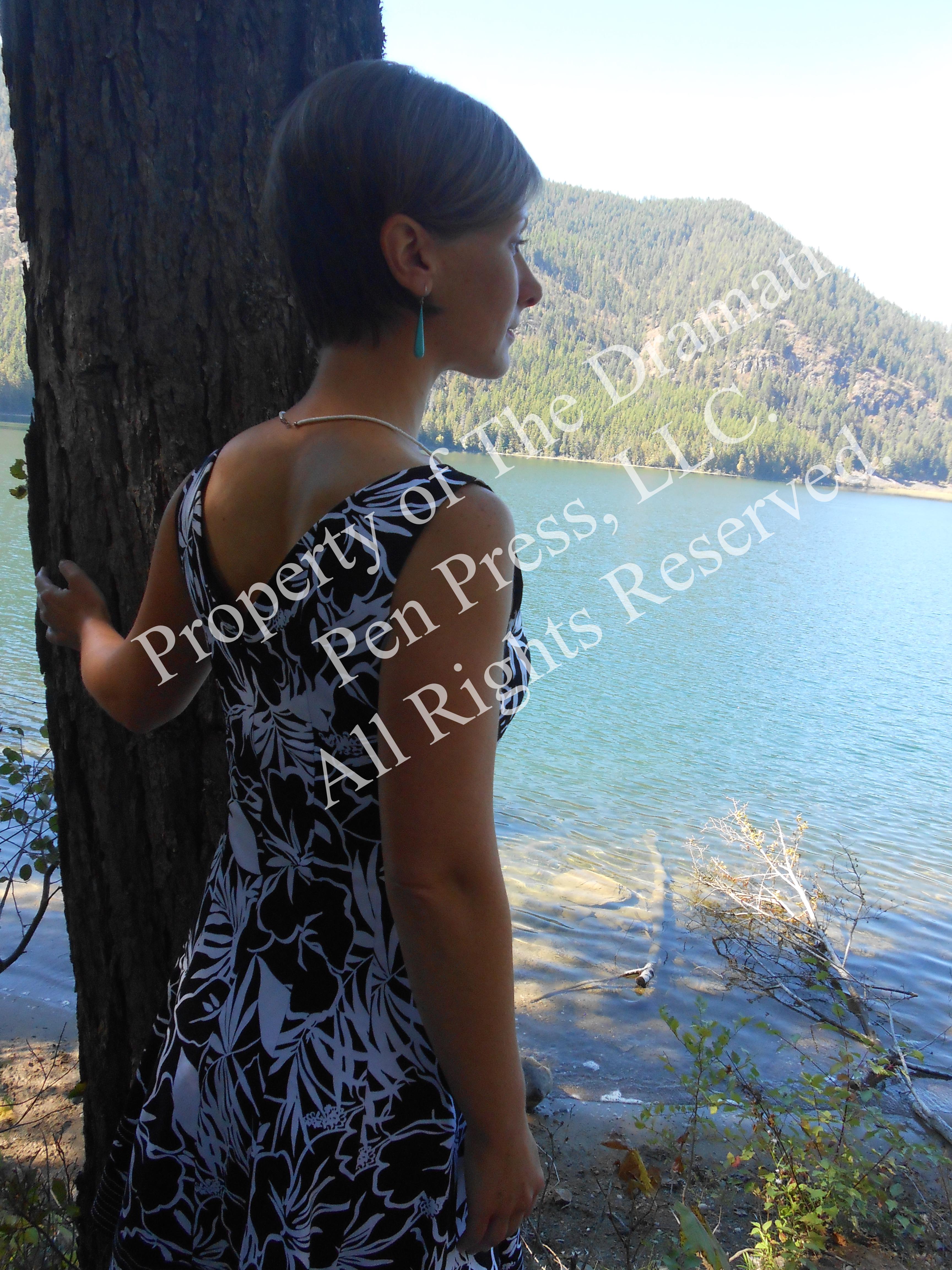 Woman on Shoreline Looking Away