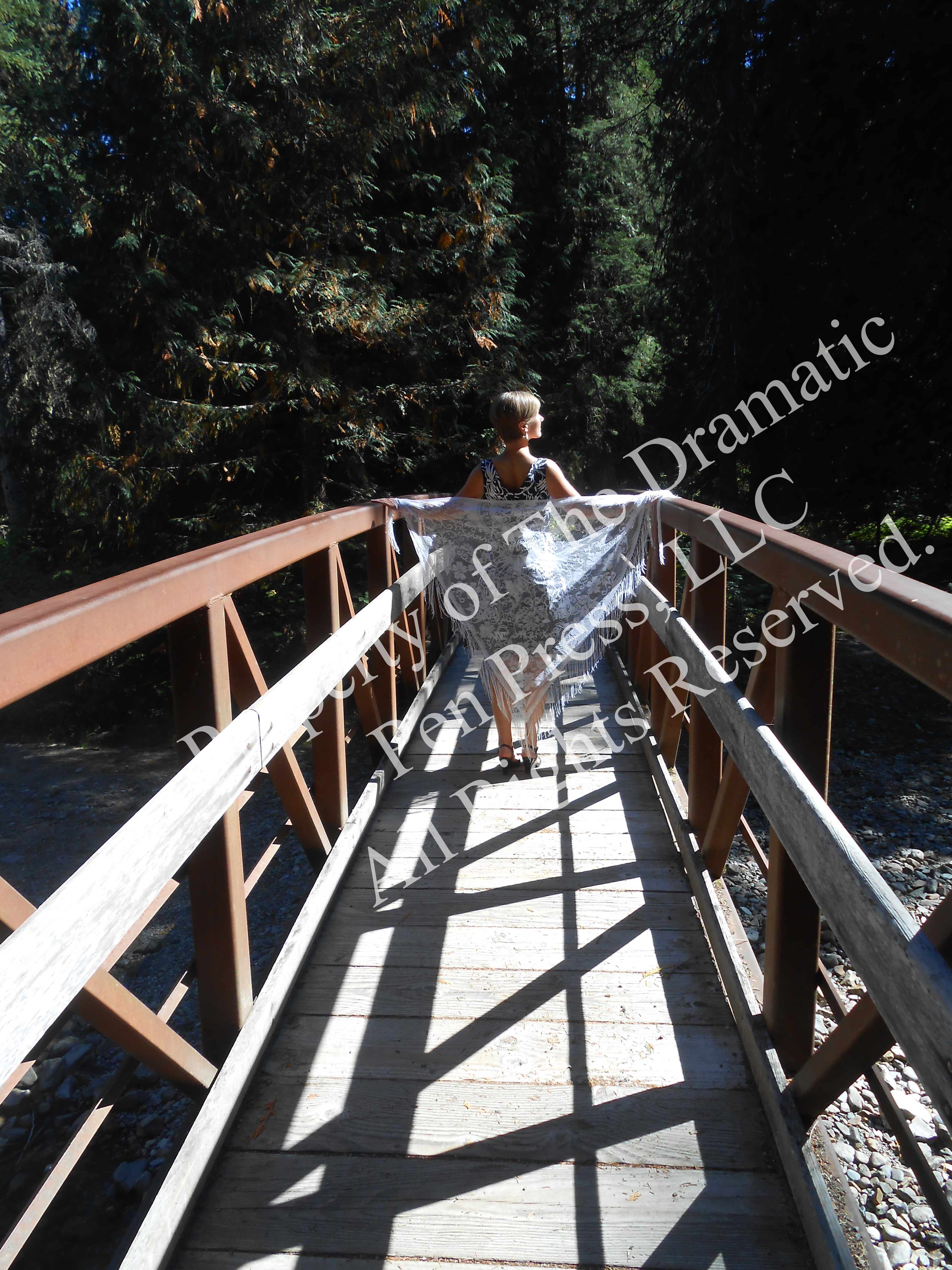 Woman on Bridge Lace Mid Distance