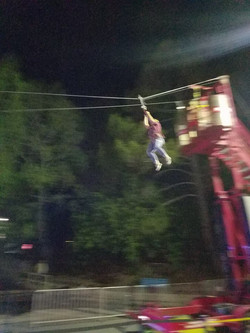 on the zip line