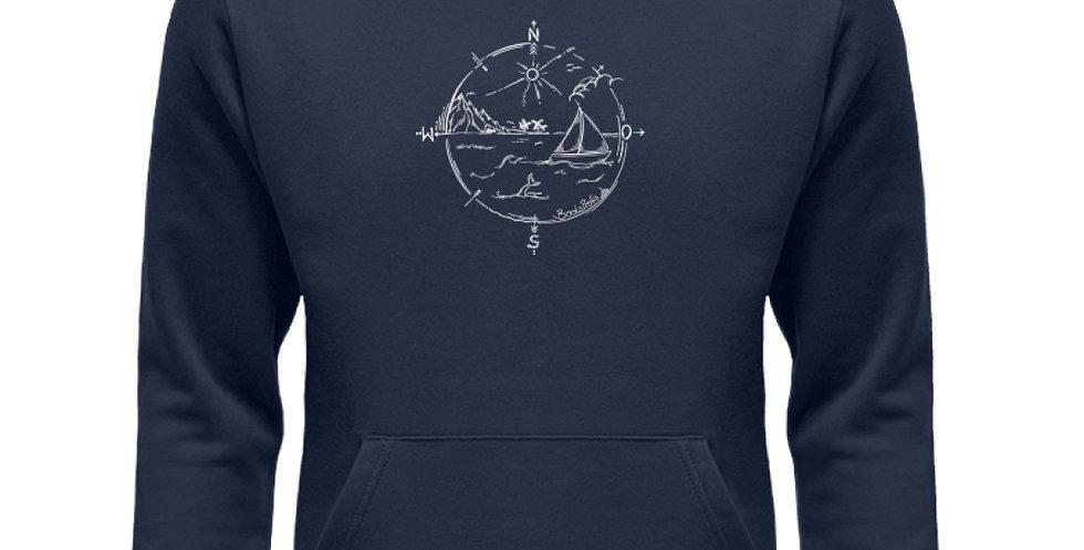 Domi's Tattoo als Kompass   - Unisex Organic Hoodie