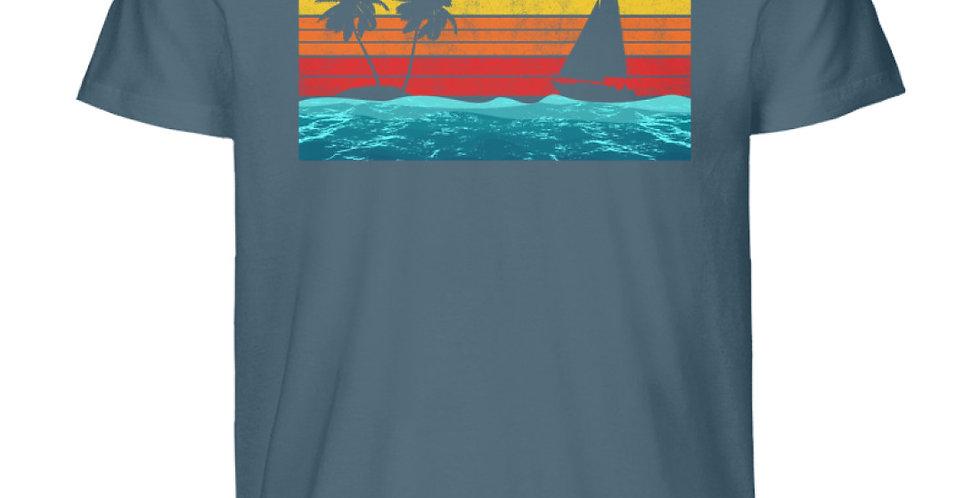Segeln im Sonnenuntergang  - Herren Premium Organic Shirt