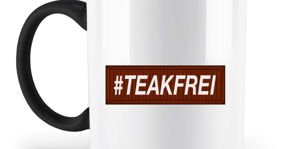 #Teakfrei - Tassen  - Zweifarbige Tasse