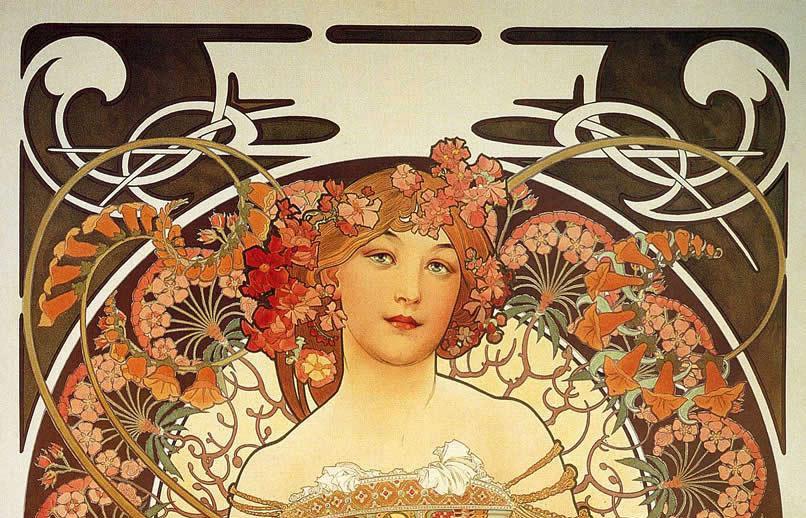 Alphonse Mucha Reverie 1897.JPG