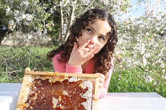 הדס מלקקת חלת דבש בריאות