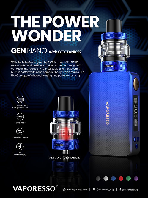 Vaporesso Gen Nano 80w with Gtx