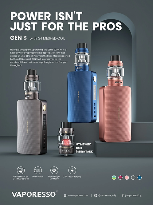 Vaporesso Gen S 220w with NRG-S tank