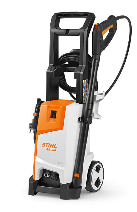 Stihl RE 100 Sturdy and compact high-pressure cleaner