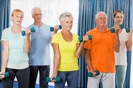 Image of Exercising Seniors