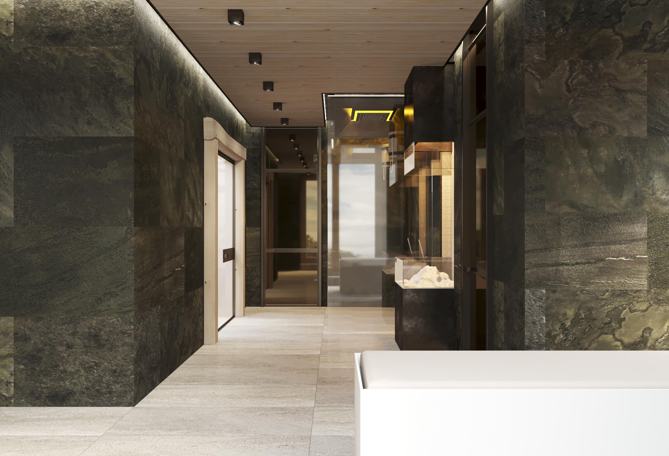 Холл банной зоны