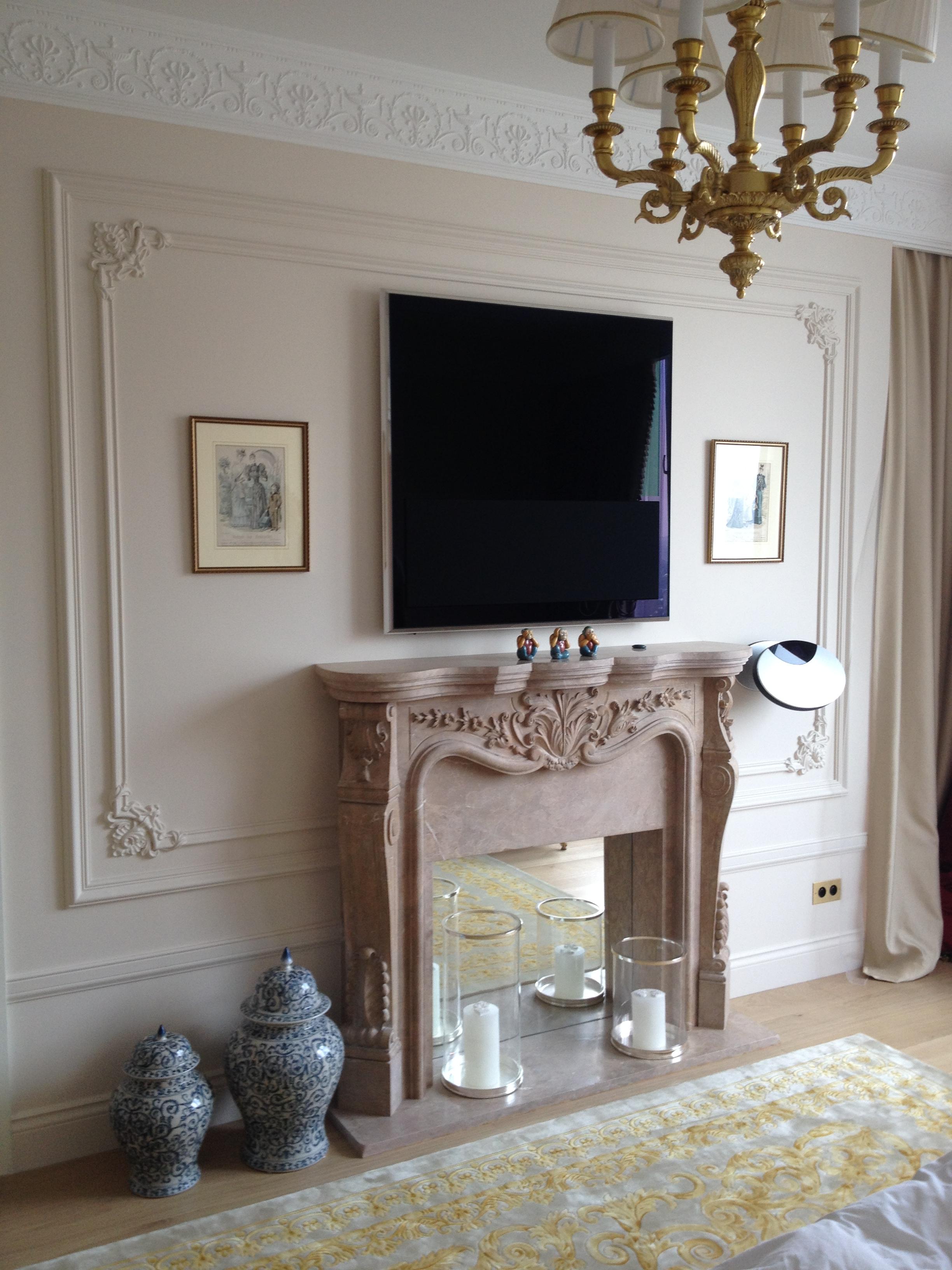 Master bedroom fireplace details