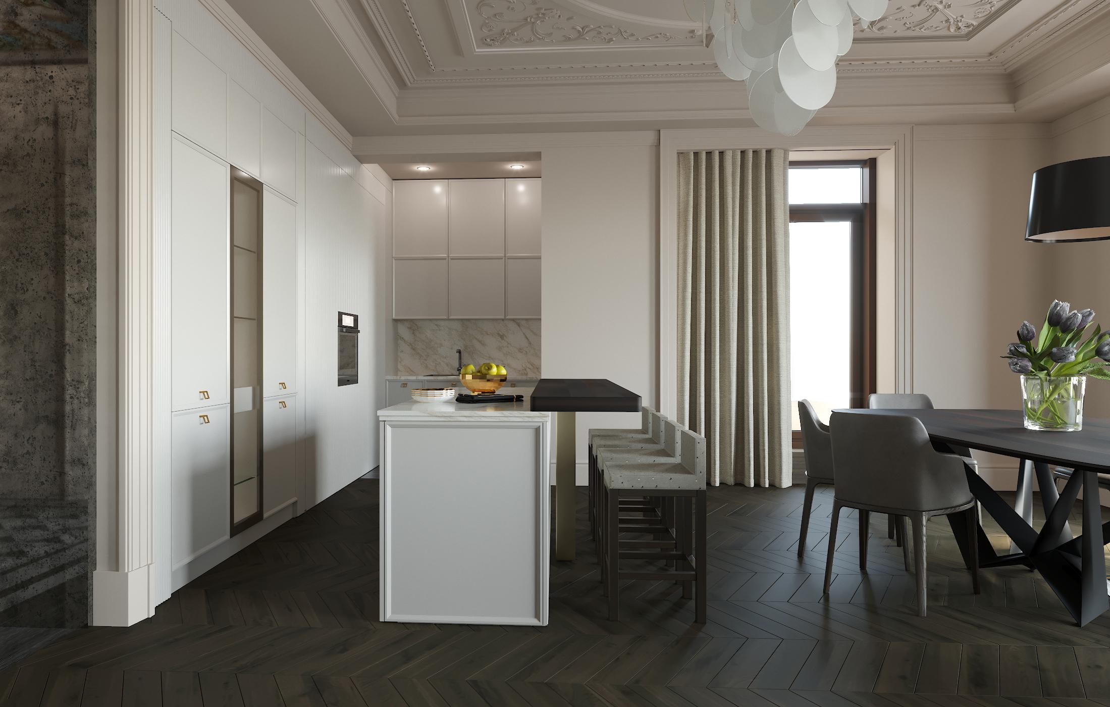 Kitchen+dining area