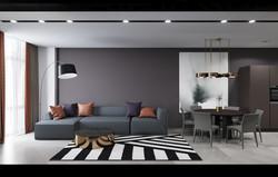 Living room at apartment, Novopechersky Lipki