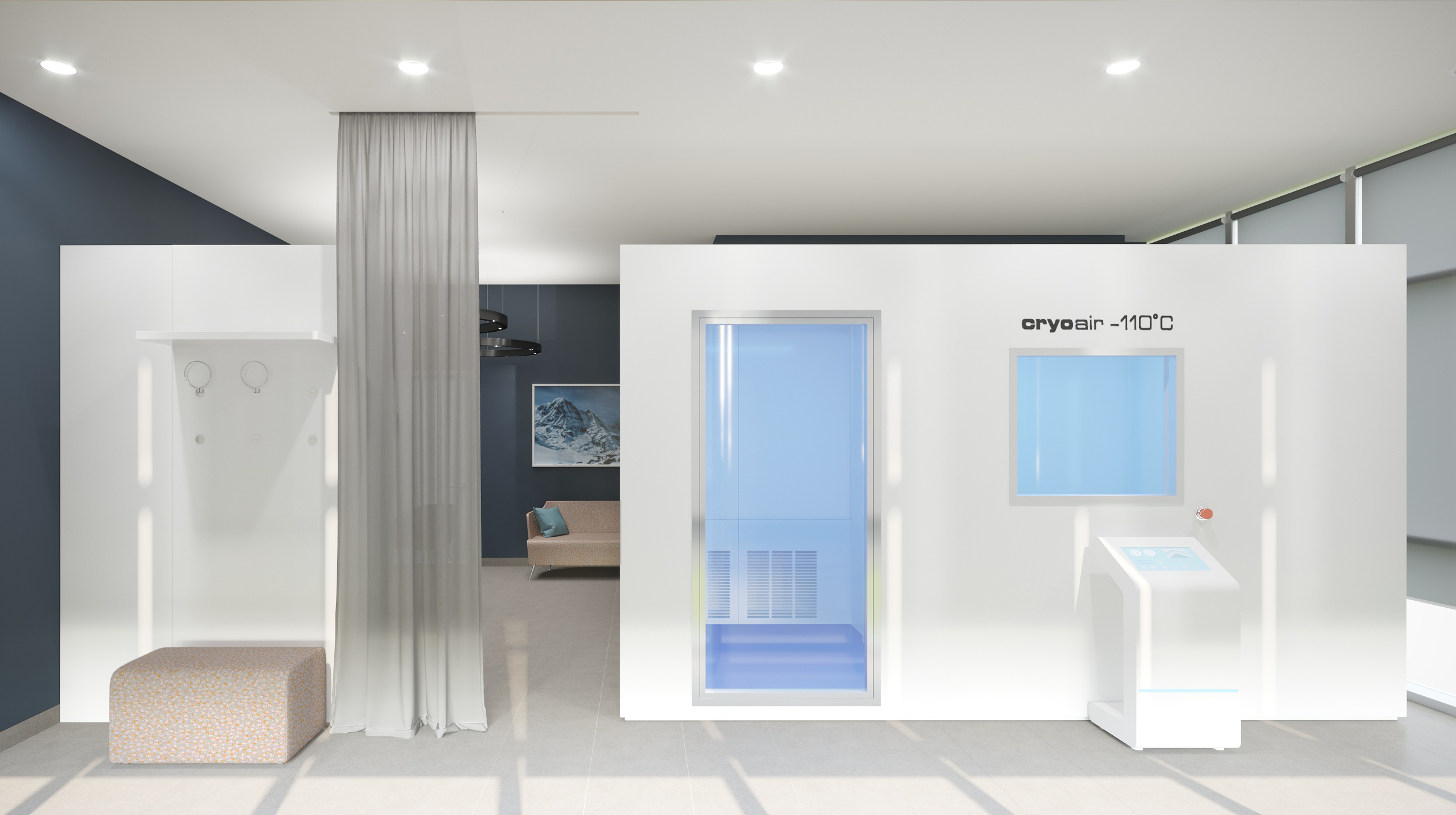 Cryo therapy room