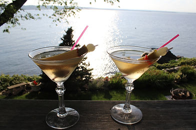 Cocktails on the deck!