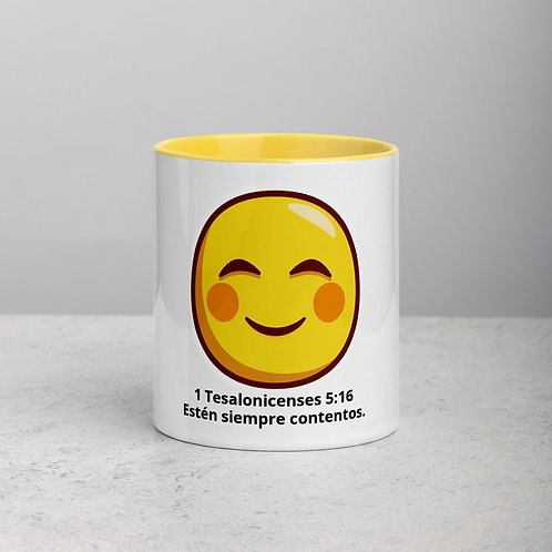 Estén siempre contentos. Mug with Color Inside