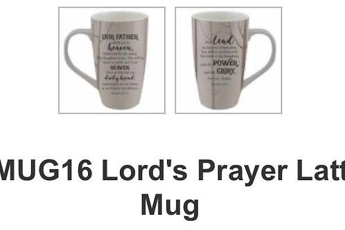 LMUG16 Lord's Prayer Latte Mug