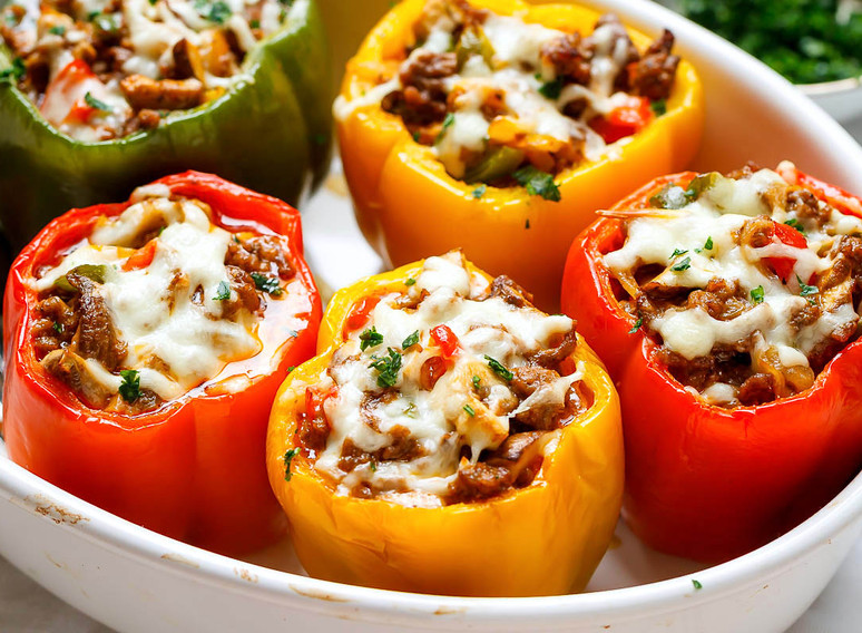Philly-Cheese-Steak-Stuffed-Bell-Peppers