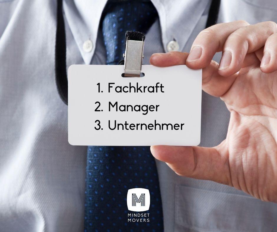 Rollenkonflikt Fachkraft Manager Unternehmer