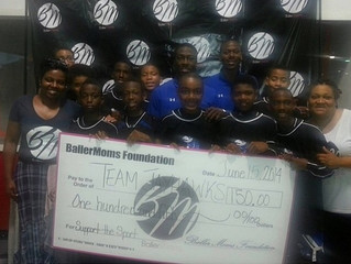 """Congrats Team Jay Hawks for Winning the BallerMoms """"Gives Back"""" Prize"""