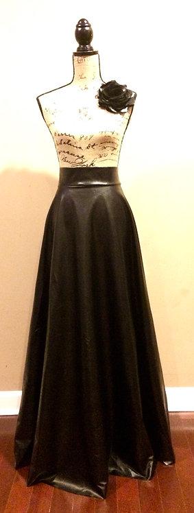 N. D. Faux Maxi Skirt