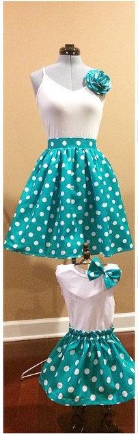 N. D. Mommy+Me Midi Skirt Set