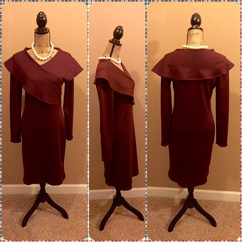 Faux Wrap Wiggle Dress