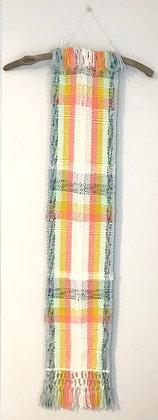 Long Rainbow Plaid Tapestry