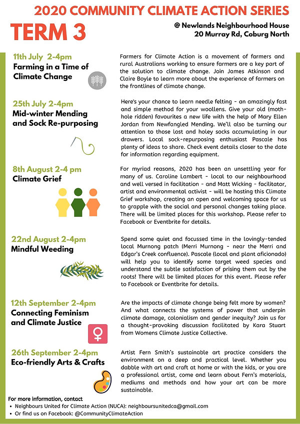 Community Climate Action Series - Term 3