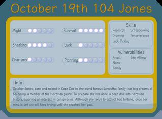 October 19th 104 Jones