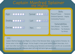 Captain Manfred Splainer the Mighty