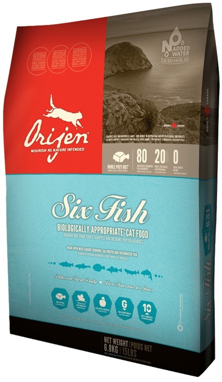 Orijen cat food six-fish