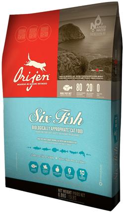 Orijen cat food six-fish