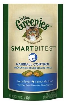 healthy cat treats hairball control