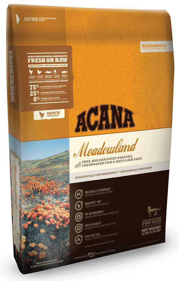Acana cat food meadowland