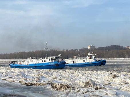 Lodołamacze dotarły do Płocka