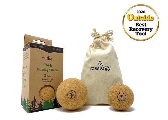Rawlogy Cork Massage Ball Set