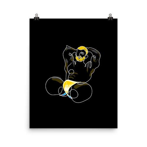 lonniedraws x matt salmon front gallery art print