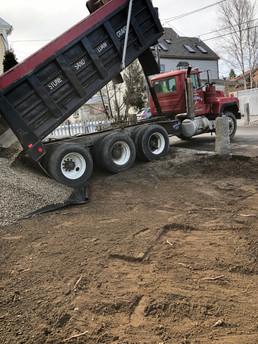 Work In Progress of Paver Driveway