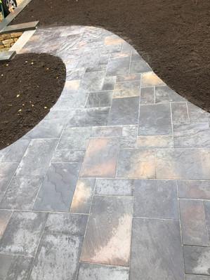 After: New Techo Bloc Inca Slab Walkway