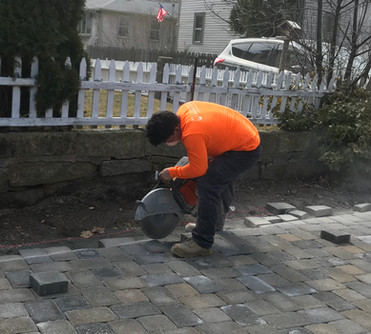 Work in Progress of Paver Drivewauy