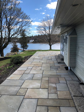 After: Patio -  RePurposing Customers Existing Blue Stone