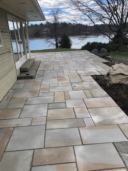 After: Patio Repurposing Customers Blue Stone