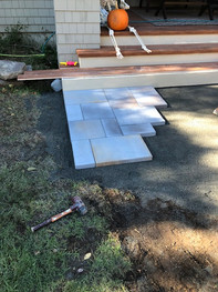 Before: New Techo Bloc Inca Slab Walkway Installation