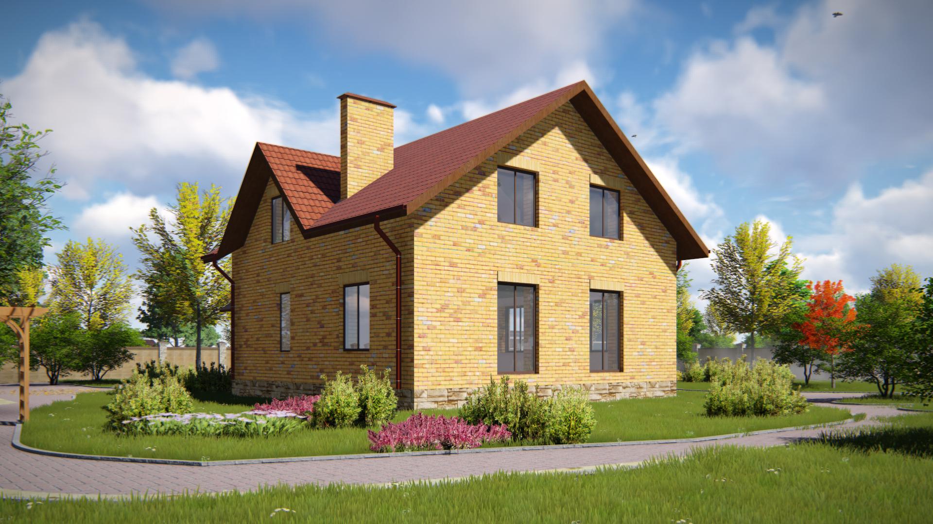 проект  мансардного дома 5