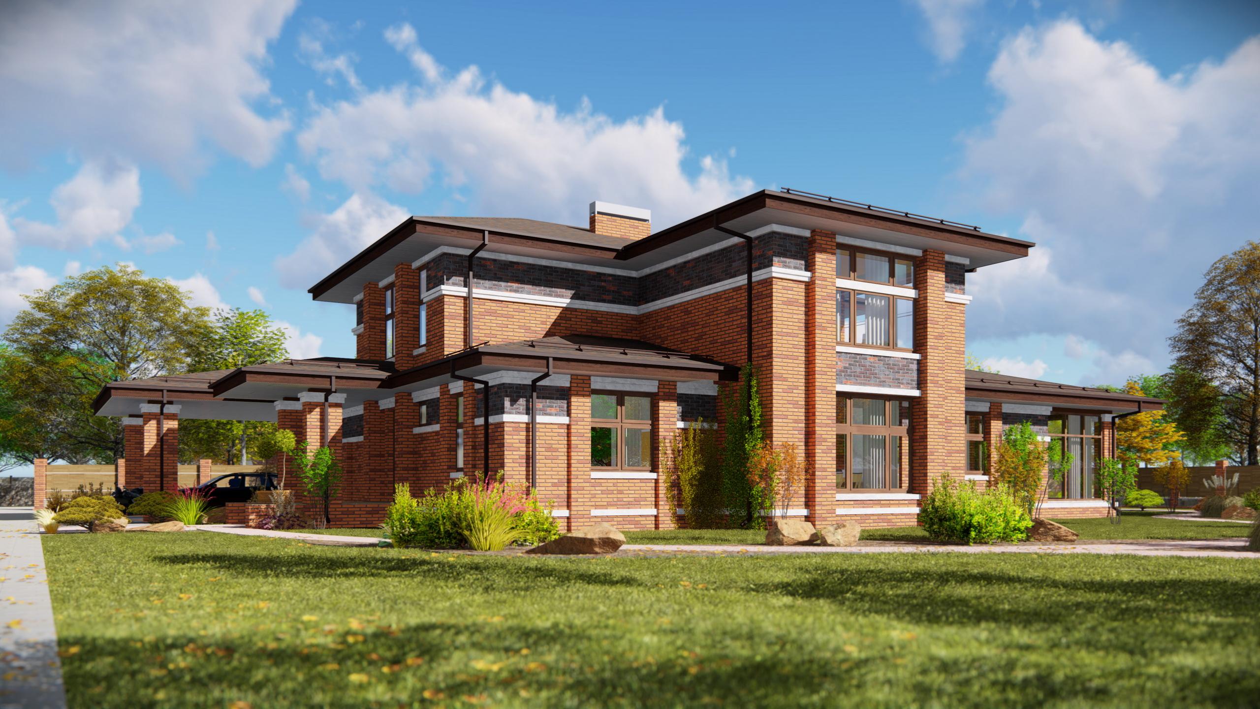 Проектирование домов в стиле Райта